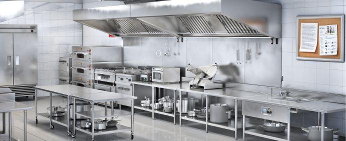 طراحی آشپزخانه صنعتی و رستوران